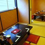千龍 - 2階の個室のお座敷