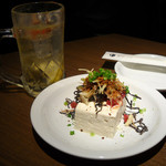 東京バル - みやこ豆腐380円とトリハイ350円