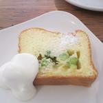 八十八夜 - ホワイトチョコと枝豆のケーキ