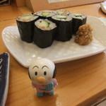梅乃寿司 - しめはかっぱまき。やまわさびたっぷりで。