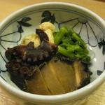 14494536 - '12/03 蛸と白子と鮑の煮もの
