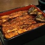 神田きくかわ - 2012.8 うな重「ニ」(6,600円)肝吸い、キャベジン、香の物、デザートつき