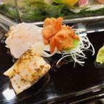 中洲 銀寿司 - アラ刺し・タイラギ・赤貝