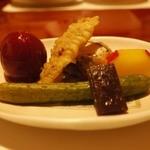すき焼割烹 日山 - すき焼きコースの前菜