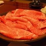 すき焼割烹 日山 - すき焼きコース(松)の肉2人前