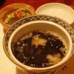 すき焼割烹 日山 - ご飯は白米+赤だしかお茶漬けから選択