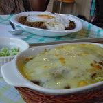 カフェ らん - カレーにチーズの取り合わせが絶品でした。