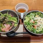 ディーアイワイ サラダ & デリカテッセン - 【2021/1】ロカボチキン+ネギトロアボカド丼