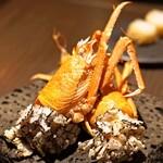 sincere - 6種類のアミューズ  シリマル海老の黒米揚げ
