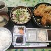 とんかつかつ屋 - 料理写真:カキフライとロースカツ定食 1400円