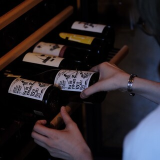 ワインは自然派ワインを提供しています!