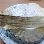 トゥレ ジュール - 2012.08 クレープ オ マロン¥300 奄美産甜菜糖を加えたクレープ生地でほんのりラムが香る マロンカスタードを幾重にも重ねました。
