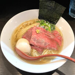 麺処 夏海 - 九周年特別限定「特製黒毛和牛白湯らぁめん」1250円