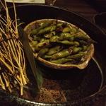 お好み酒家 ん - 茶豆のにんにく炒め(×2)