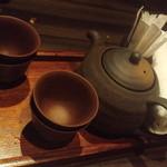 お好み酒家 ん - 食後のほうじ茶