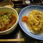 花ごよみ - 五目チャーハン+ミニラーメンセット(小鉢付)