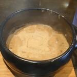 145009781 - グツグツ濃厚な胡麻の香りが強烈なつけ汁