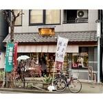 鳥忠 - お店の外観 この向かいに、たい焼きの柳屋さんがあります。