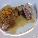 14502663 - メイン。鶏と豚のソテー。肉ウメー!!