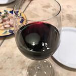 145033137 - 赤ワインはカンパーニヤ ロッソだったと思います。しっかりした味わい。