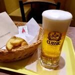 フレッシュネスバーガー - ビールと芋