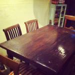 パチャカフェ - もうひとつの大きなテーブル。