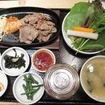 草の花 - ('12/8)牛カルビ肉サンパセット