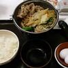 すき家 - 料理写真:牛すき鍋定食(ごはん並盛)