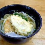 多田製麺所 - 天ぷらうどん(かけうどん+天ぷら盛り)