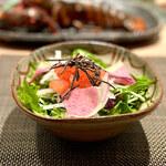 京風鉄板 はせ川 - 塩昆布サラダ