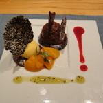 ZUPPA - デザート(チョコレートとマンゴのジェラート添え)