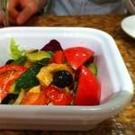 あひる ビアホール - チキンと夏野菜のサラダ