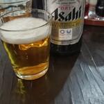 蘭蘭 - 瓶ビール 500円税込 生ビールはモルツ 450円