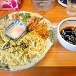やまき - 温玉柚香つけ麺(大盛)