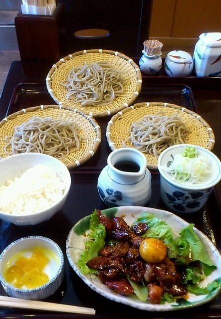 奥藤本店 甲府駅前店 - 蕎麦定食(¥1680)ボリュームあります!!
