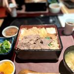 銀花 - 国産牛すき焼き重