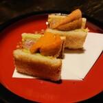 海鮮料理 雲丹しゃぶしゃぶ 工藤 - 神戸牛と雲丹のカツサンド