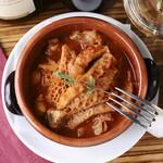 牛トリッパとひよこ豆のマドリード風煮込み