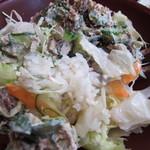 や乃家 - ツナマヨサラダ丼のアップ