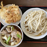145090871 - 肉汁うどん並+野菜天盛り