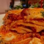イタリア家庭料理 addu mamma - ラザニアの断面