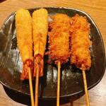 串揚げ処 味串 - 海老 串カツ おかわり