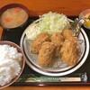克芳 - 料理写真:カキフライ定食(大盛ご飯)