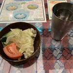 カンティプール - ランチセットのサラダ