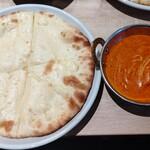 インドレストラン スパイスハウス - ◆チーズナン・バターチキンカレー【辛さ】②Normal(普通)◆♪