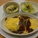ソラナキッチン - 料理写真:オムライスプレート(ミニグラタン・サラダ付き)