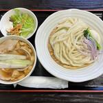 篁園 - 「肉汁うどん」680円