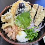 篁園 - 「野菜天ぶっかけうどん」750円