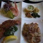 ひぐち - 地鶏塩焼き&海老フライ 1200円