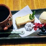 145132557 - 山田牧場のチーズケーキセット
